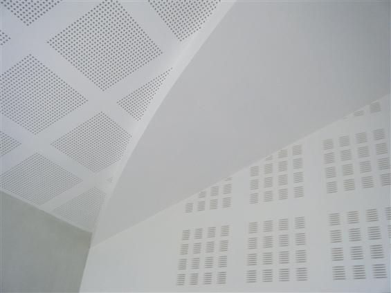 Réalisation d'un plafond et mur accoustique et décoratif à Boussay 44190.chantier  BOUSSAY 44